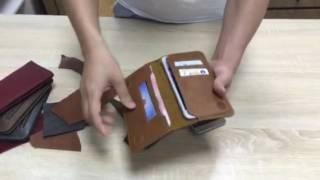 men s genuine leather wallet bifold id credit card holder long purse money clip