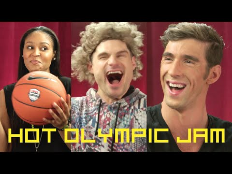Flula Makes Hot Jam w/ Michael Phelps & Olympians