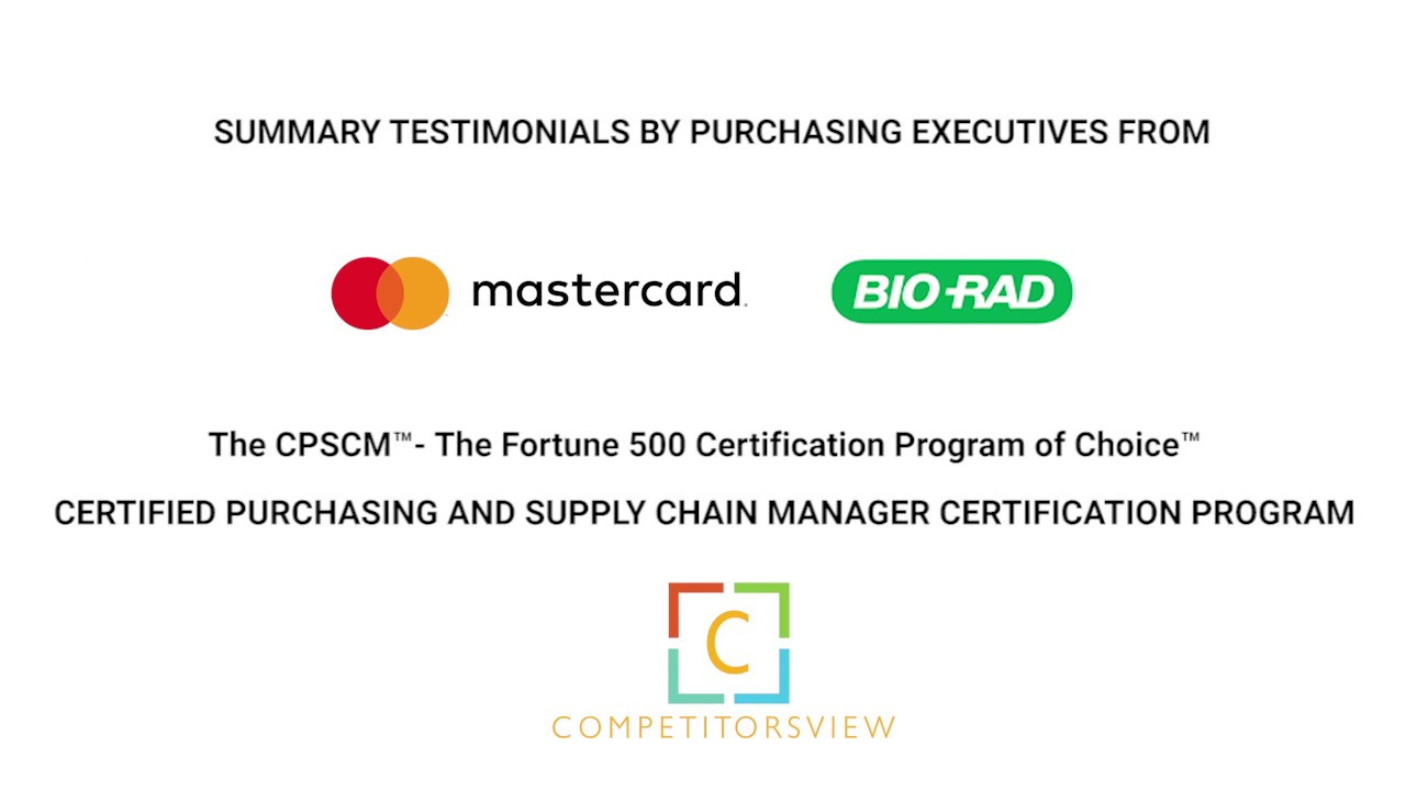 Purchasing Executives On Certified Purchasing And Supply Chain
