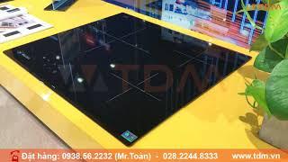 TDM.VN | Review bếp điện hồng ngoại Malloca MR 593 mặt kính có 3 vùng nấu chính hãng