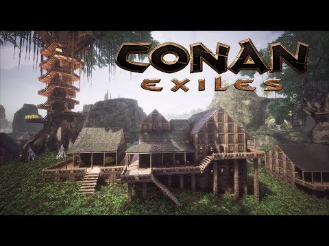 Conan Exiles - House designs in the Jungle Treehouse City