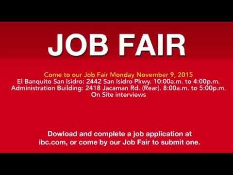 Job Fair - November 9, 2015