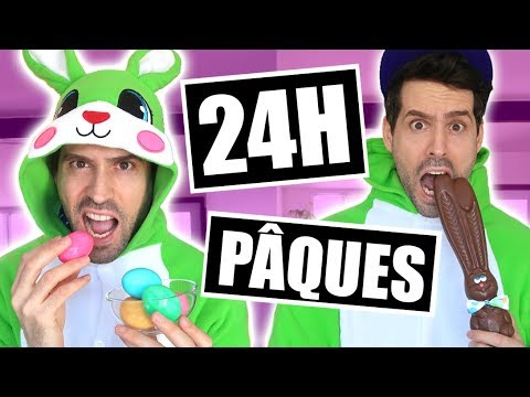 JE MANGE QUE LA NOURRITURE DE PÂQUES PENDANT 24H - HUBY