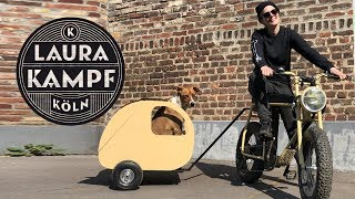 """Tiny Camper"" Bike Trailer for my Dog"
