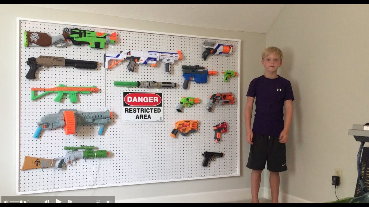 Nerf Gun Wall Rack - Lovequilts
