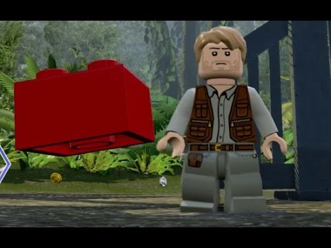 LEGO Jurassic World - All 20 Red Brick / Cheat Locations (Co