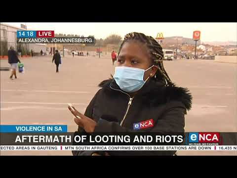 Violence in SA   Aftermath of looting and riots - eNCA