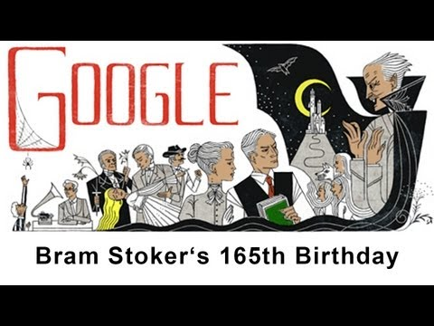 Bram Stoker Books - Google Doodle