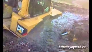 Утопили новенький Caterpillar D10T - Сагыл (Сусуманский район)