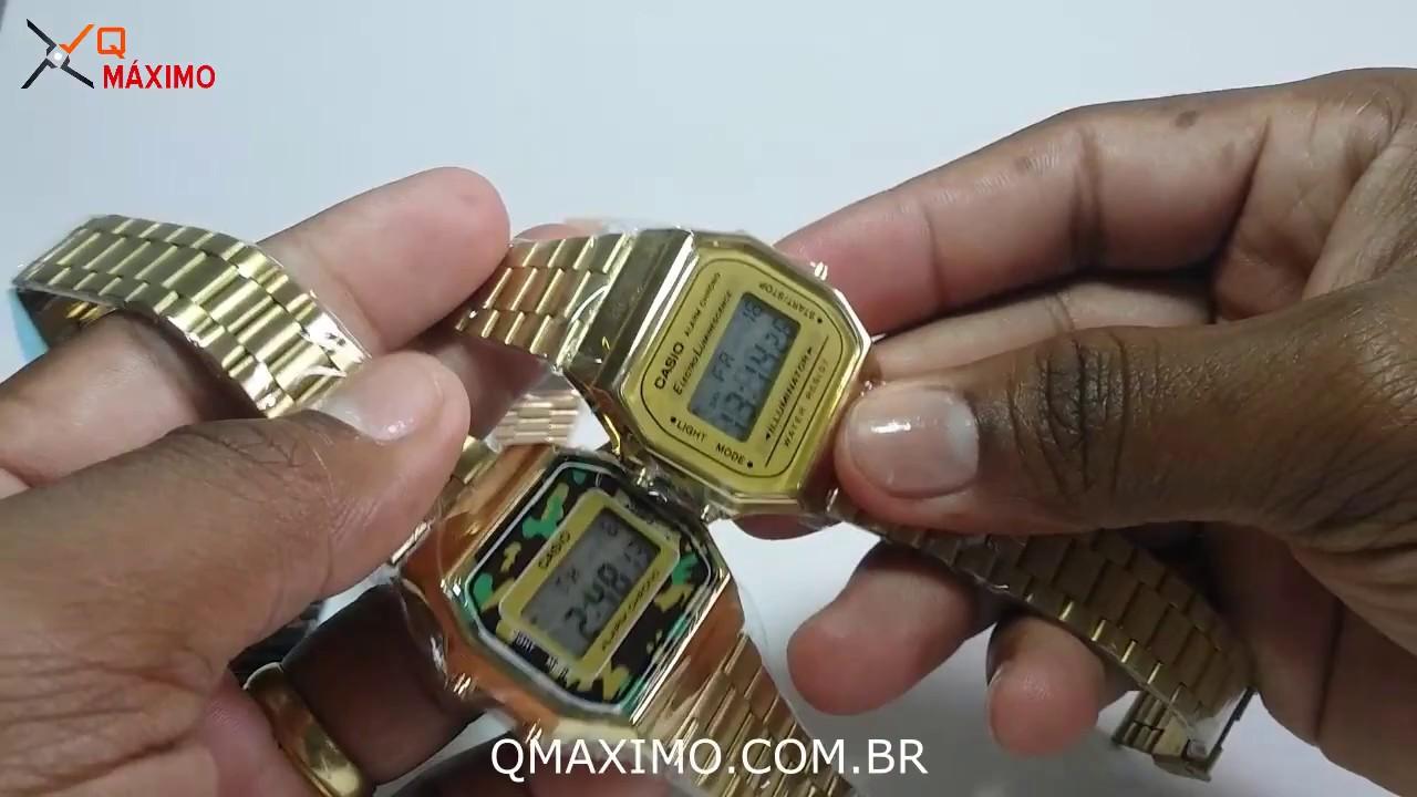 17d245be266 Ajustando a hora formato 12h e 24h do Relógio Casio Retro - QMAXIMO ...