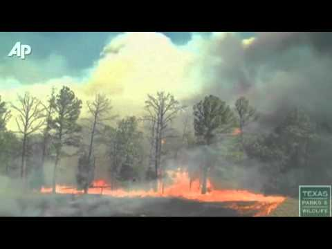 Raw Video Shows How Fast Texas Wildfire Spread