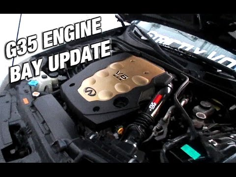 G35 Engine Bay Update + Ricer Tow Hook - G35 Vlog