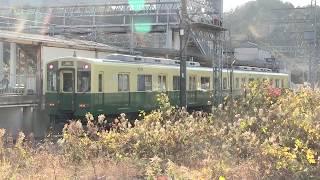 近鉄1440系三重交通復刻色 白木駅での入換光景