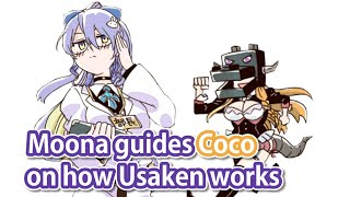 Moona guides Coco in her first job at Usada Kensetsu
