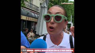 Avignon : les manifestants anti-pass sanitaire nombreux en centre-ville