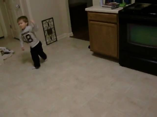 Brodie Dancing in the kitchen