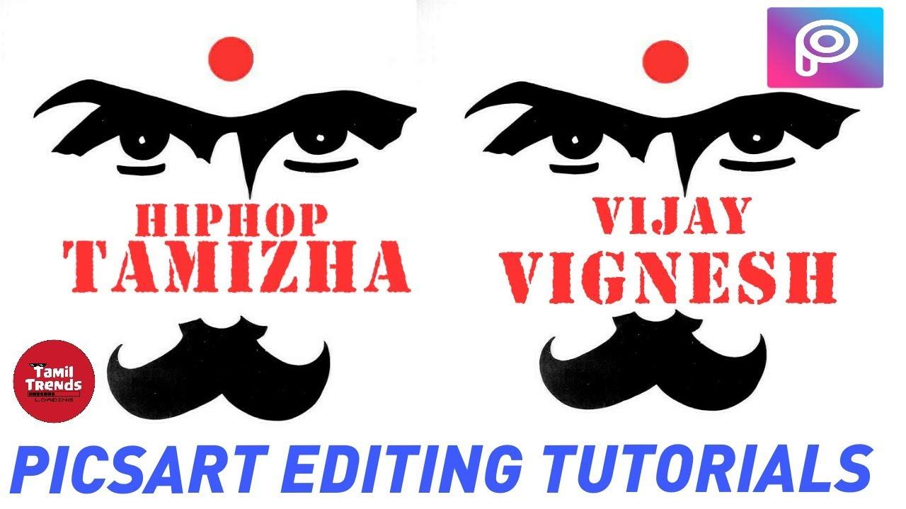 HIPHOP tamizha logo design in PICSART in tamil | HIPHOP TAMILAN TYPOGRAPHY  in picsart