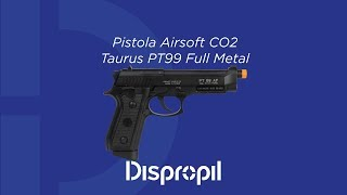 Review Pistola Airsoft CO2 Taurus PT99 Full Metal