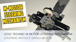LEGO Technic M-Motor Steering Mechanism - Without Servo Motor (Building Instructions)