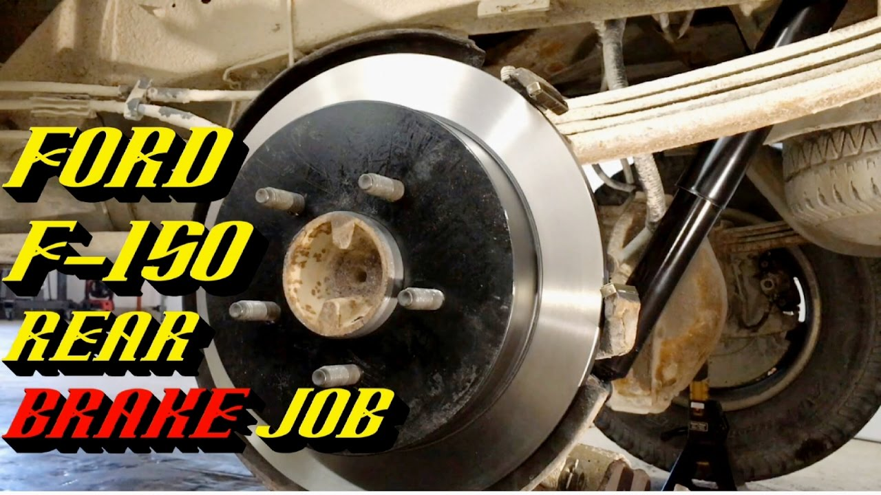 1997 2010 ford f 150 rear brake job pads and rotor replacement [ 1280 x 720 Pixel ]