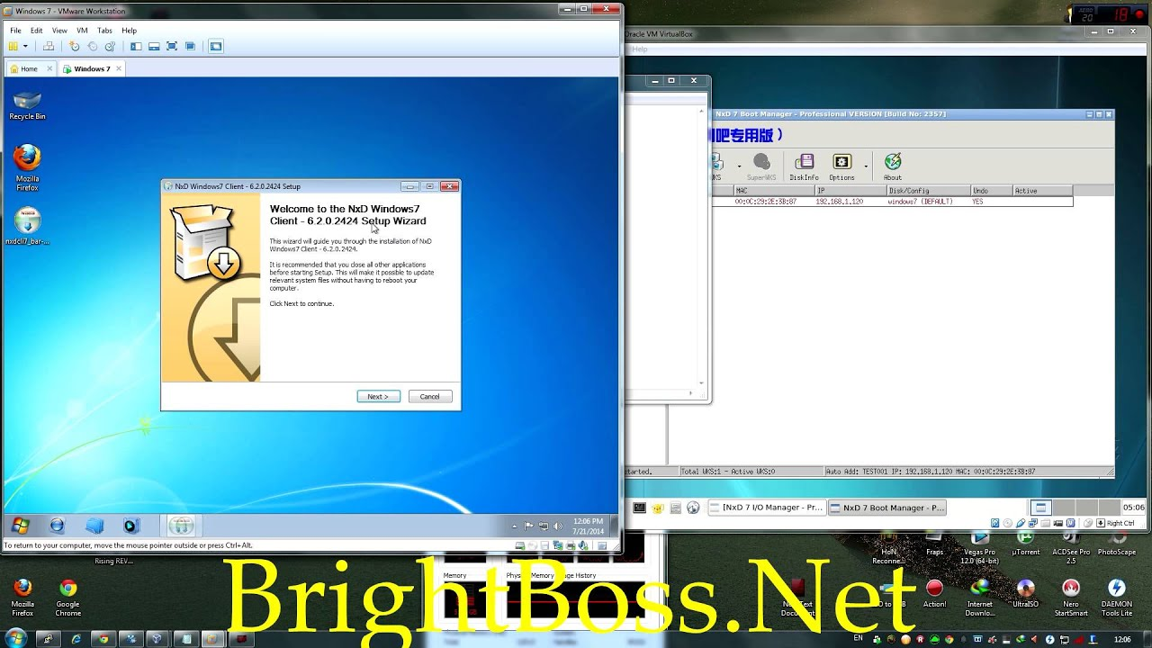 Nxd 7. 5 | ip address | booting.