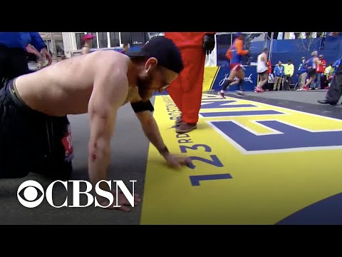 Maverick - Marine Finishes Boston Marathon in Honor of Fallen Brothers