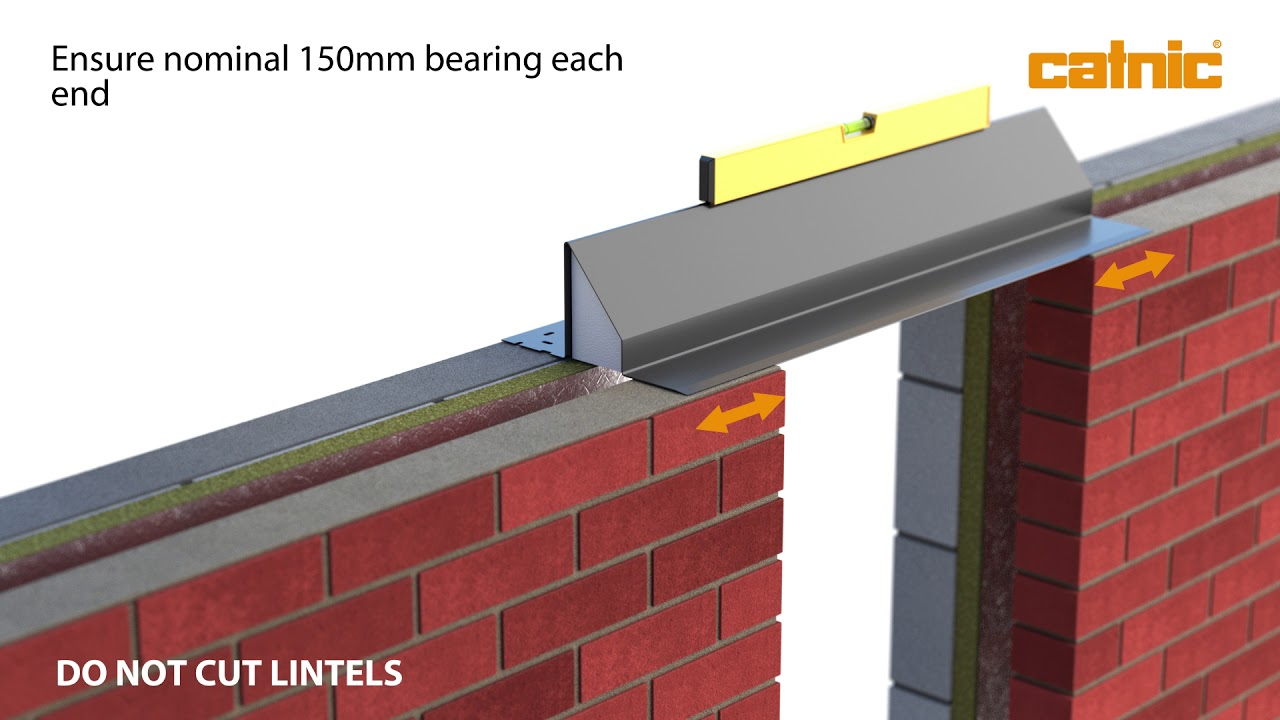 How To Install A Cavity Wall Lintel Youtube