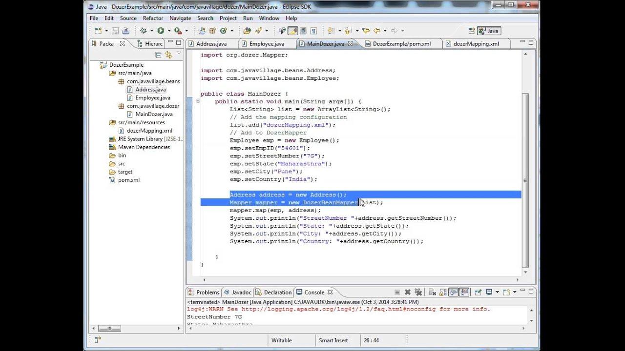 Dozer API: Java Bean to Java Bean mapper - YouTube on