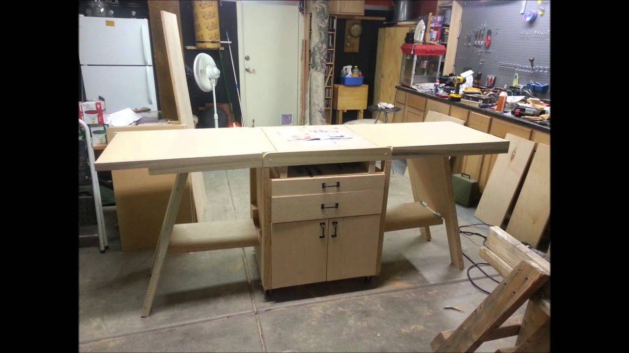 Folding Work Bench - YouTube