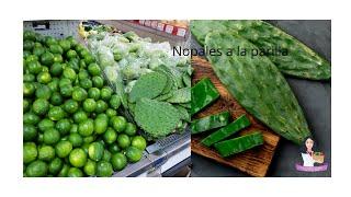 Simple receta de Nopales a la parilla, excelente receta.