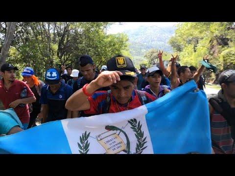 Thousands of migrants form new 'caravan' in Guatemala