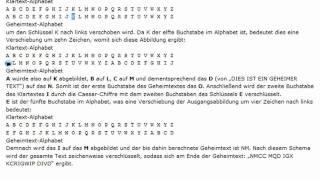Chiffre: Vigenère-Grundlagen - (Java 1-048)