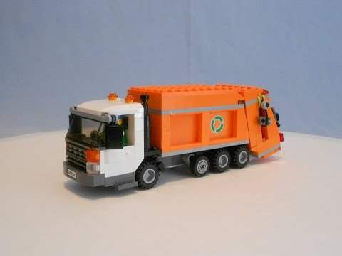 Repeat Custom Lego Scorpion Automated Side Loader Garbage Truck By