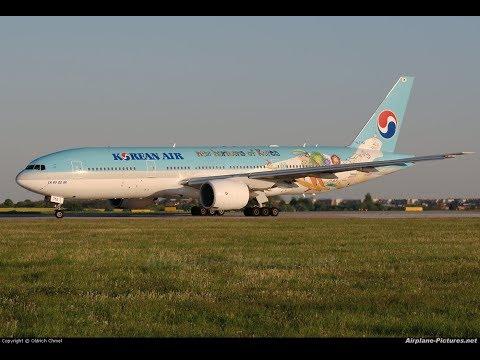 P3D v4 1 PMDG 777 Korean air 782 Fukuoka to Seoul with special livery  Pyeongchang 2018