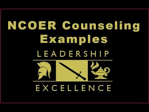 NCOER Counseling Exmples