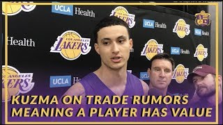Lakers Interview: Kyle Kuzma on Trade Rumors Being Positive Because it Means You Have Value