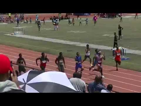17yr Eric Allen 10.85s 100m Finals Mark Trail invitational 2016