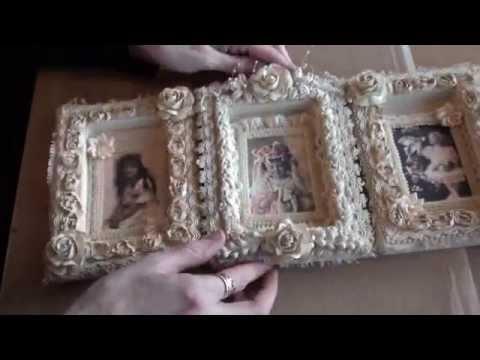 Vintage Shabbychic frames. - YouTube