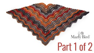 Bernat Lacy Crochet Shawl Pattern || Feather and Fan Wave || Part 1 of 2