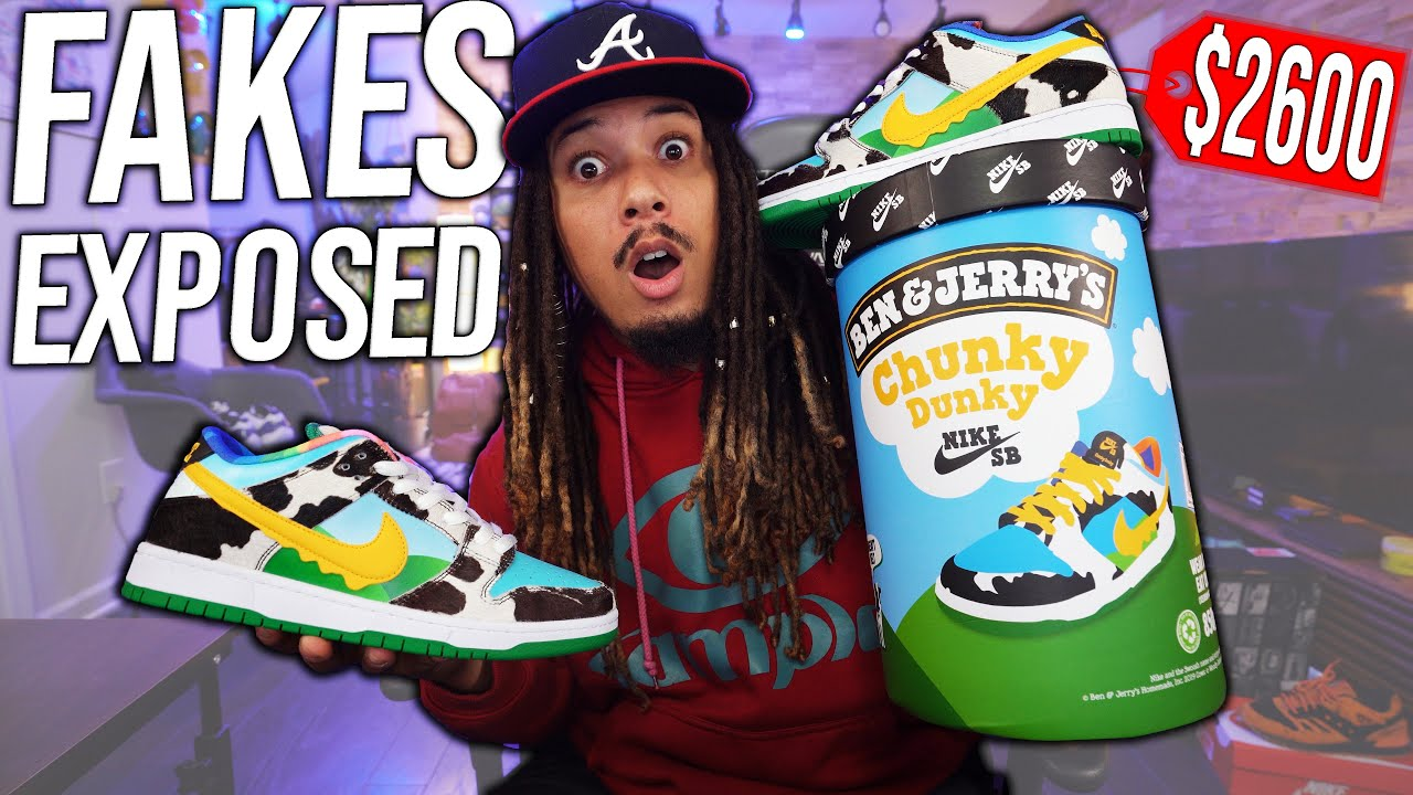 FAKES EXPOSED ! I BOUGHT THE MOST EXPENSIVE FAKE SNEAKERS IN THE WORLD !!! (F&F CHUNKY DUNKYS) !!!