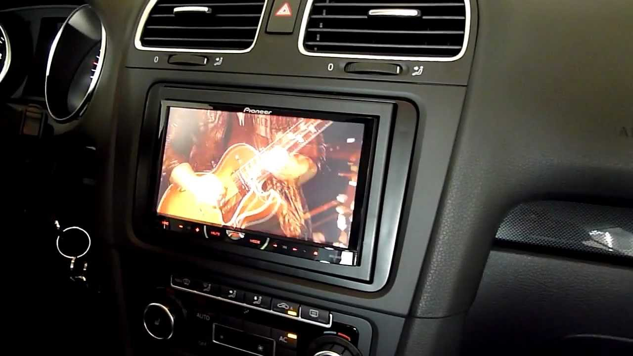 Pioneer AVH-4400BT im VW Golf VI !!! Kurzes Preview in deutsch und HD !!! - YouTube