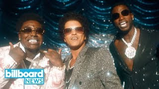 Gucci mane, bruno mars & kodak black become '80s r&b heartthrobs in new music video | billboard news