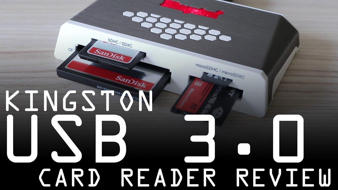 Kingston Digital USB 3.0 Super Speed Multi-Card Reader for SD//SDHC//SDXC//microSD//MS//Compact Flash CF Cards FCR-HS4