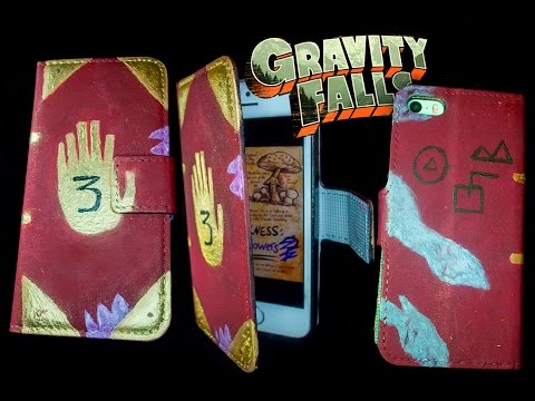 Gravity falls journal 3 DIY phone wallet painting