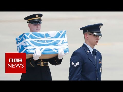 North Korea returns US war remains - BBC News