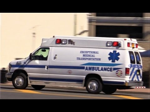 Atlantic City NJ EMS Exceptional Medical Transportation Responding on Atlantic Ave May 9th 2017