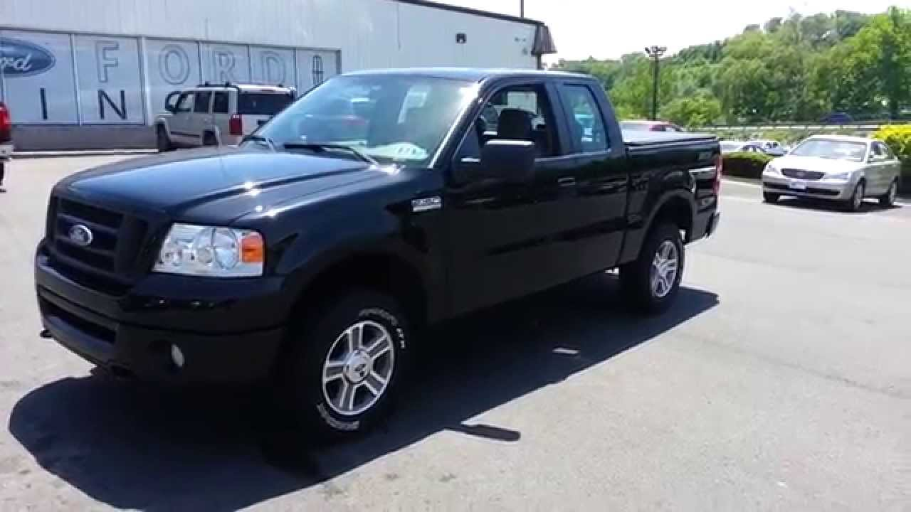 2008 ford f 150 supercab stx 4x4 black clearcoat youtube. Black Bedroom Furniture Sets. Home Design Ideas
