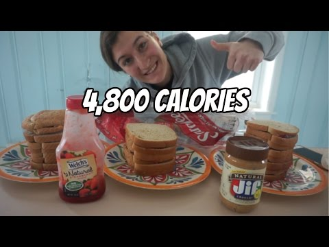 Girl Vs. Food | Peanut Butter Jelly Sandwiches | Food Challenge