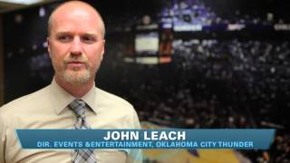 Director of events and entertainment for Oklahoma City Thunder interviewed