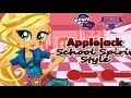 Equestria Girls Friendship Games Applejack School Spirit Style Dress Up